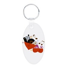 Music Heals The Soul Aluminum Oval Keychain