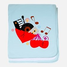 Music Heals The Soul baby blanket