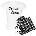 Peace and Love Women's Light Pajamas