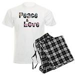 Peace and Love Men's Light Pajamas