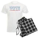 Patriotic Vote Men's Light Pajamas