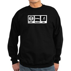 Eat Sleep Ski Sweatshirt (dark)