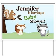 Enchanted Forest Baby Shower Yard Sign - Jennifer