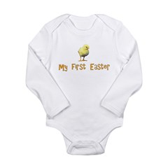 My First Easter - Chick - Long Sleeve Infant Bodys