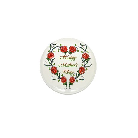 Roses Mother's Day Mini Button
