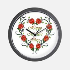 Roses Mother's Day Wall Clock