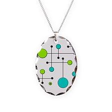 Lime & Teal Dot Dash Necklace