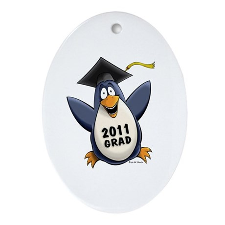 Class of 2011 Penguin Ornament (Oval)
