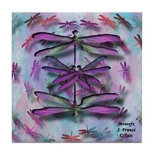 Dragonfly 13 Tile Coaster