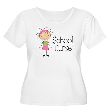 School Nurse Women's Plus Size Scoop Neck T-Shirt