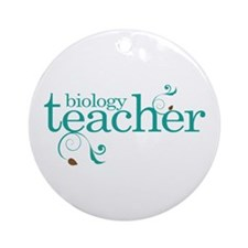 Biology Teacher Ornament (Round)