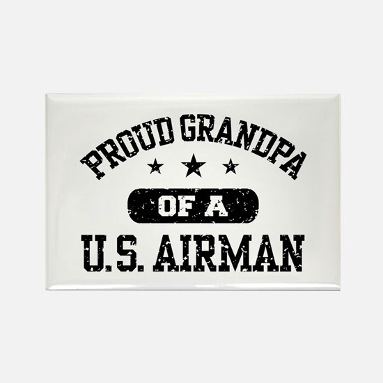 Proud Grandpa of a US Airman Rectangle Magnet