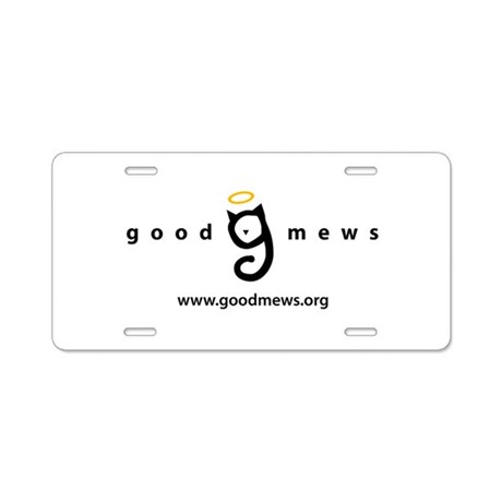 Good Mews Aluminum License Plate