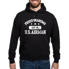 Proud Grandma of a US Airman Hoodie