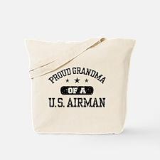 Proud Grandma of a US Airman Tote Bag