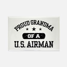 Proud Grandma of a US Airman Rectangle Magnet
