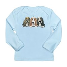 Three Bassets Long Sleeve Infant T-Shirt