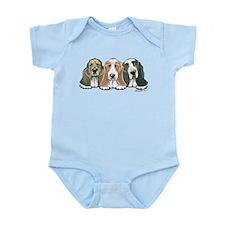 Three Bassets Infant Bodysuit