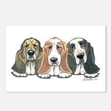 Three Bassets Postcards (Package of 8)