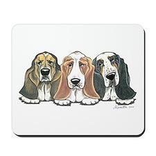 Three Bassets Mousepad