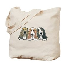 Three Bassets Tote Bag