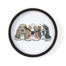Three Bassets Wall Clock