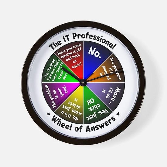 IT Wheel of Answers Wall Clock