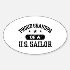 Proud Grandpa of a US Sailor Decal