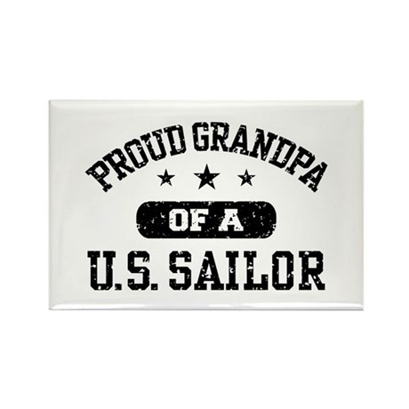 Proud Grandpa of a US Sailor Rectangle Magnet