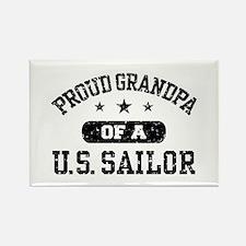 Proud Grandpa of a US Sailor Rectangle Magnet