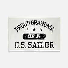 Proud Grandma of a US Sailor Rectangle Magnet