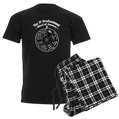 IT Wheel of Answers Men's Dark Pajamas