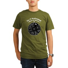 IT Wheel of Answers Organic Men's T-Shirt (dark)