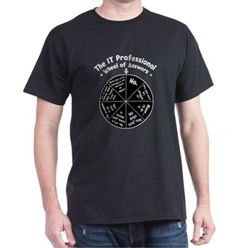 IT Wheel of Answers Dark T-Shirt | Gifts For A Geek | Geek T-Shirts