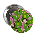 "Cute Little Tennis Girl 2.25"" Button"