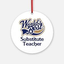 Substitute Teacher Ornament (Round)