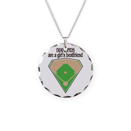 Diamond Field Necklace Circle Charm