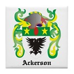 Ackerson Coat of Arms Tile Coaster