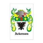 Ackerson Coat of Arms Mini Poster Print