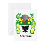 Ackerson Coat of Arms Greeting Cards (Pk of 10