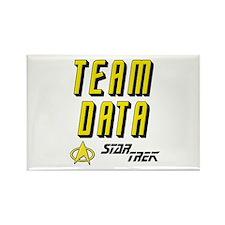 Team Data Star Trek Rectangle Magnet