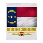 North Carolina Pride Throw Blanket