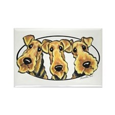 Airedale Terrier Lover Rectangle Magnet