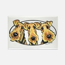Airedale Terrier Lover Rectangle Magnet (10 pack)