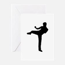 Kickboxing Greeting Cards (Pk of 10)