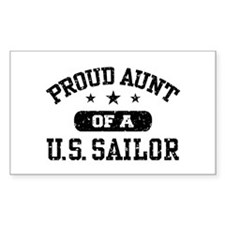 Proud Aunt of a US Sailor Decal