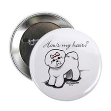 "Bichon Hair Humor 2.25"" Button"