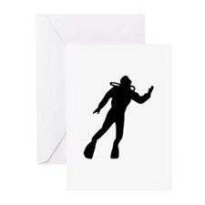 Scuba Diving Greeting Cards (Pk of 10)