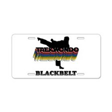 Taekwondo Black Belt Colors Aluminum License Plate