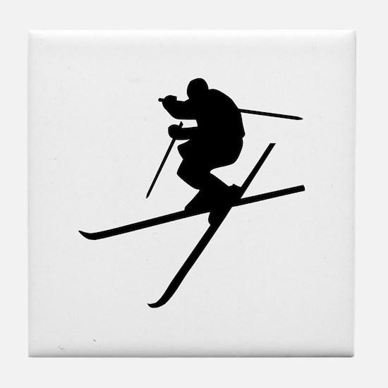 Skiing - Ski Freestyle Tile Coaster